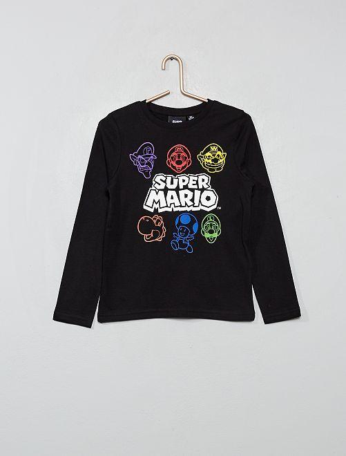 Camiseta 'SuperMario'                             negro