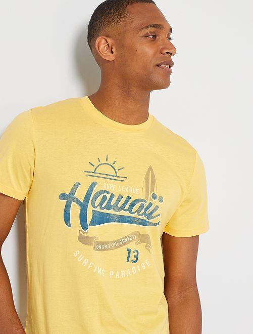 Camiseta surf 'Produkt' orgánica                             AMARILLO
