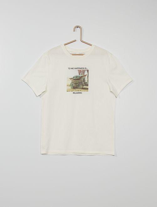 Camiseta 'The Mandalorian' eco-concepción                             BLANCO