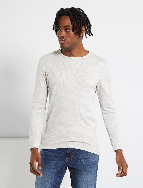Camiseta Thermolactyl 'Damart'                                                     gris chiné