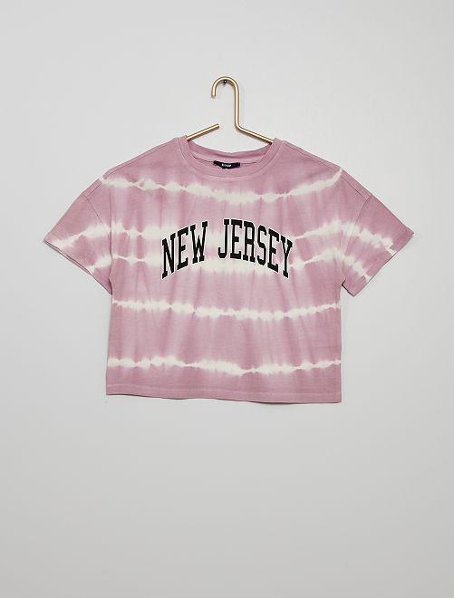 Camiseta 'tie-dye'                             PURPURA