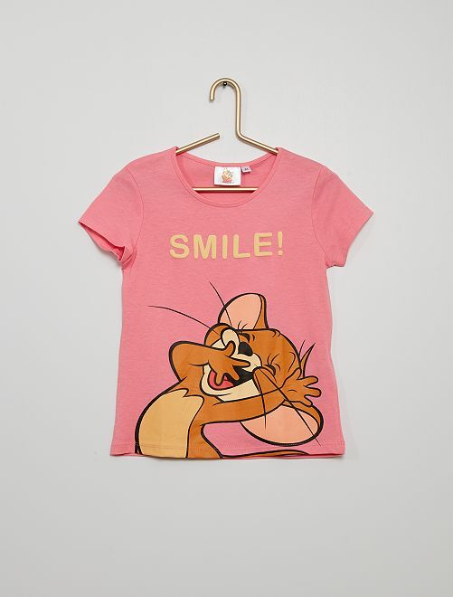 Camiseta 'Tom y Jerry'                             ROSA