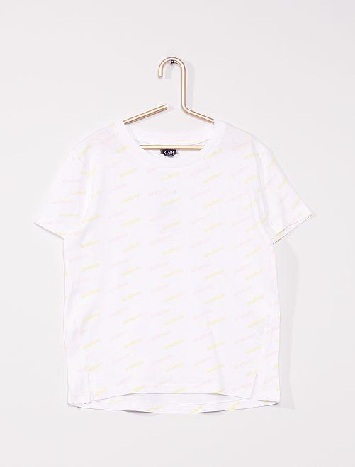 Camiseta tricolor                     BLANCO