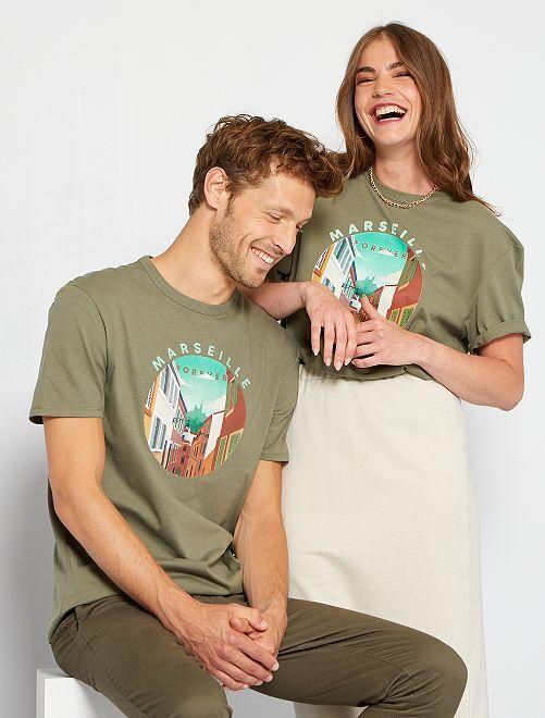 Camiseta unisex estampada                                                                 VERDE
