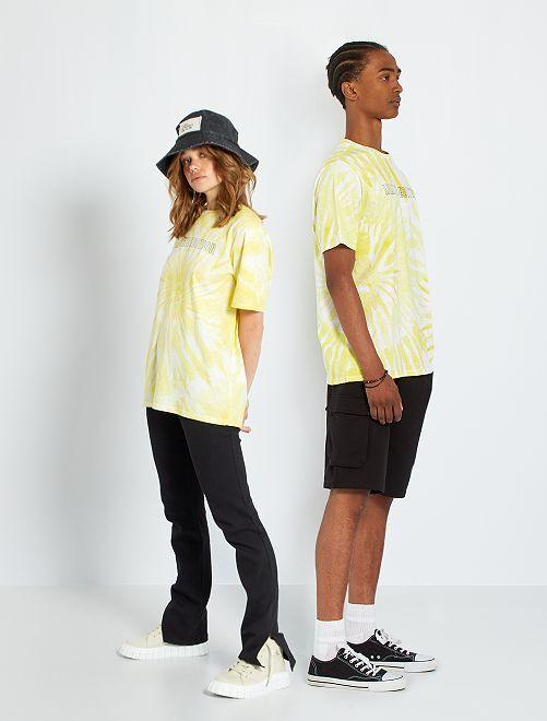 Camiseta unisex tie-dye                             AMARILLO