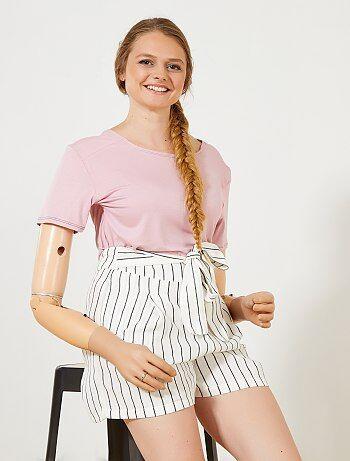 Mujer talla 34 to 48 - Camiseta vaporosa 'A&K Classics' - Kiabi