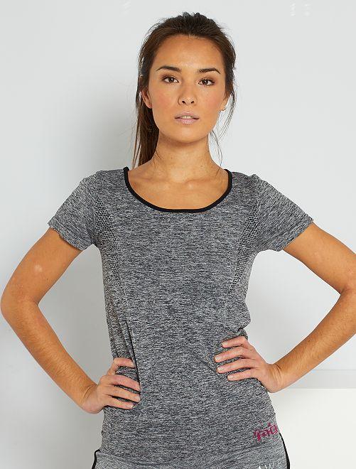 Camiseta vaporosa de deporte                             gris chiné