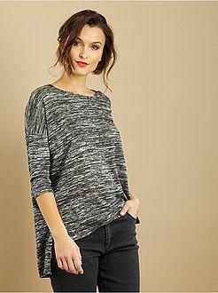 Básicas - Camiseta vaporosa de punto fino