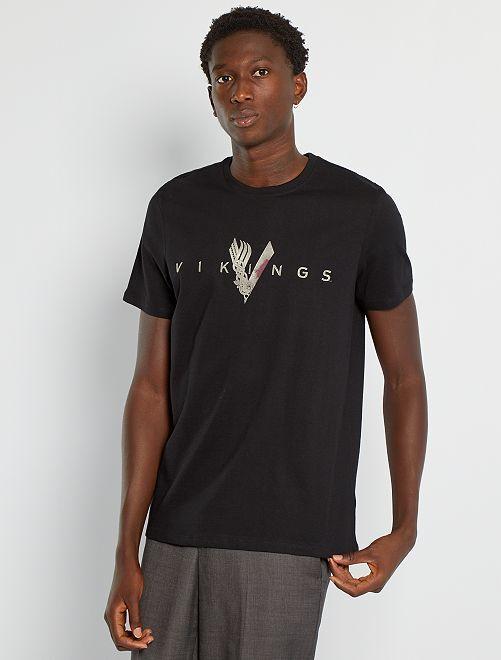 Camiseta 'Vikings'                             negro