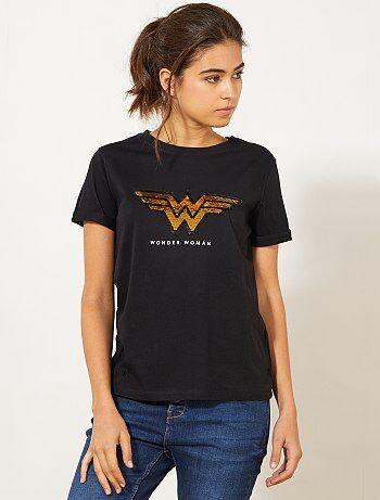 Camiseta 'Wonder Woman' con lentejuelas - Kiabi