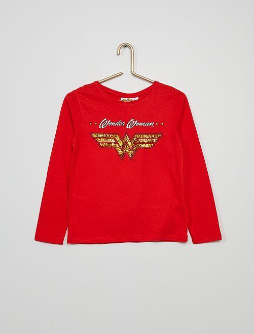 Camiseta 'Wonder Woman'                             rojo
