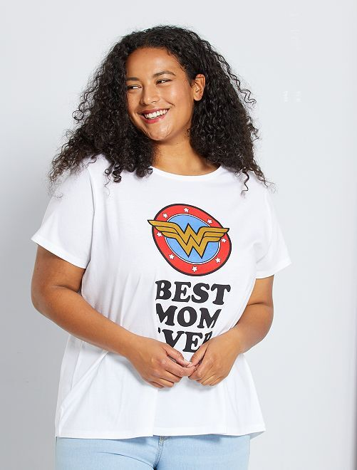 Camiseta 'Wonderwoman'                                         blanco