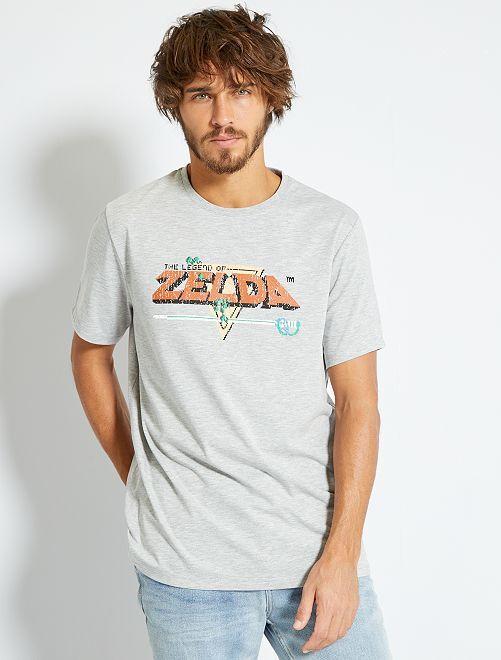 Camiseta 'Zelda'                             GRIS