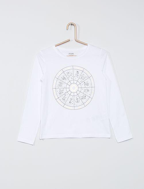 Camiseta 'zodiaco' eco-concepción                                                                                         BLANCO