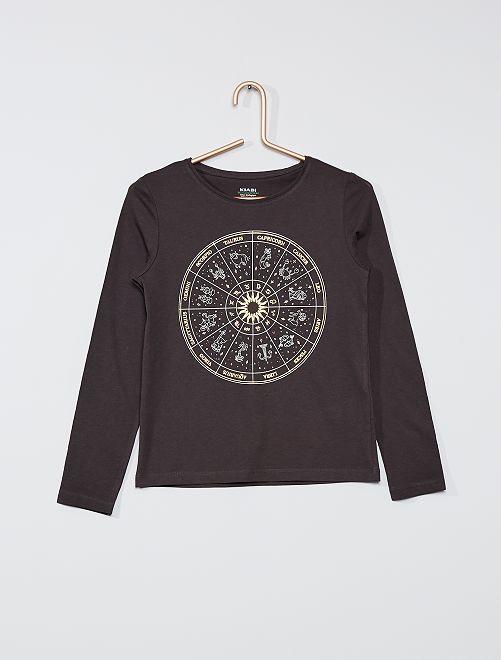 Camiseta 'zodiaco' eco-concepción                                                                                                     GRIS