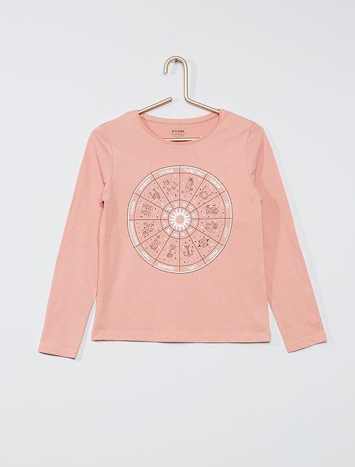 Camiseta 'zodiaco' eco-concepción                                                                                                                 ROSA