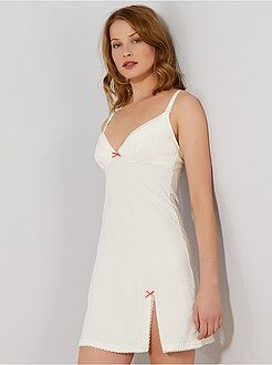 Pijamas - Camisón de lactancia de algodón orgánico 'Billet Doux' - Kiabi