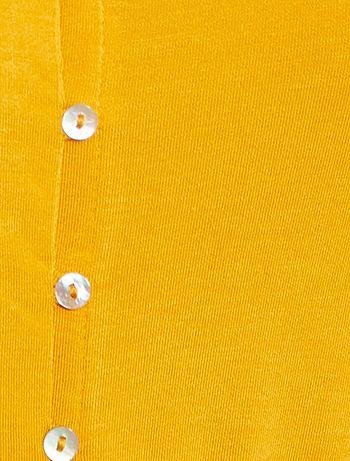 d6965f78f8d9 Camisón de punto vaporoso Lencería de la s a la xxl - amarillo ...