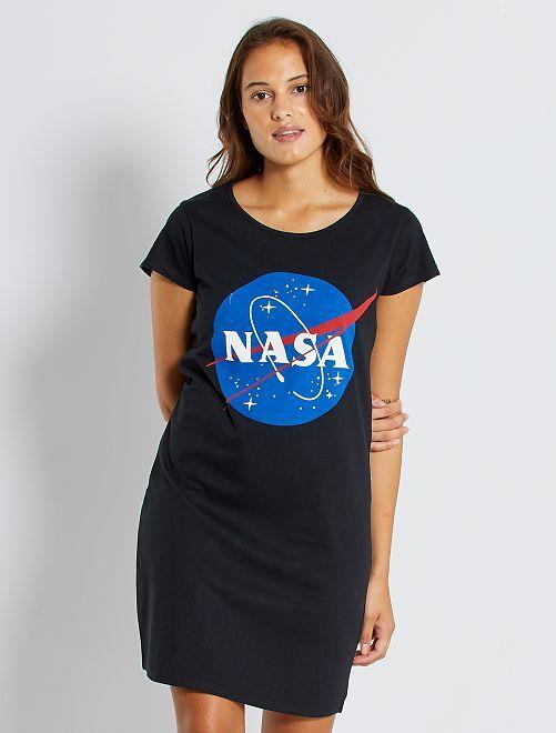 Camisón 'NASA'                             negro