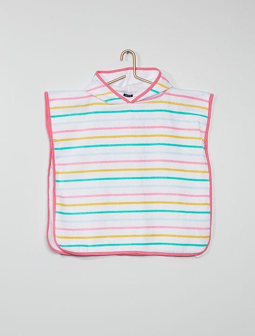 Capa de baño con capucha                             multicolor