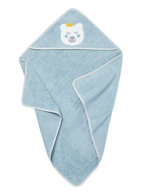 Capa de baño de rizo                                                     azul