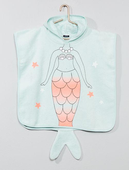 Capa de baño 'sirena'                             AZUL Bebé niña