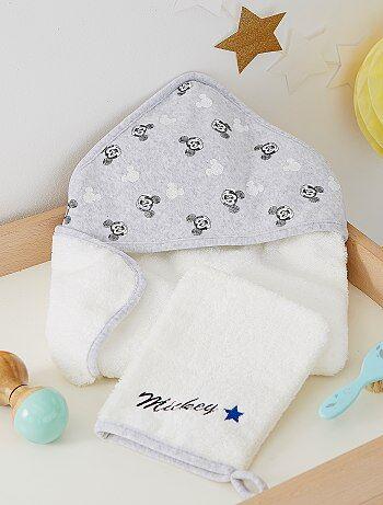 Niño 0-36 meses - Capa de baño y manopla Mickey - Kiabi