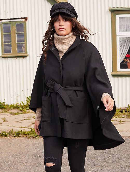 Capa efecto lana                             negro