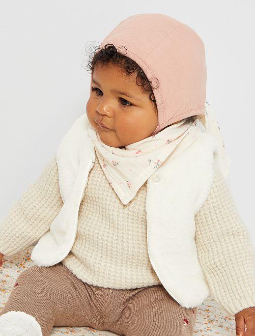 Capota de algodón                             rosa