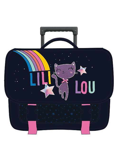 Cartera con ruedas de gato 'Lili Lou'                             azul marino