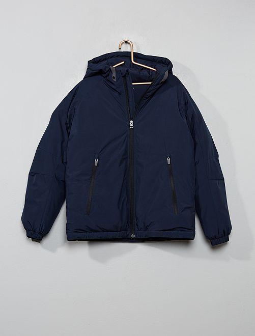 Cazadora abrigada con capucha                                         azul
