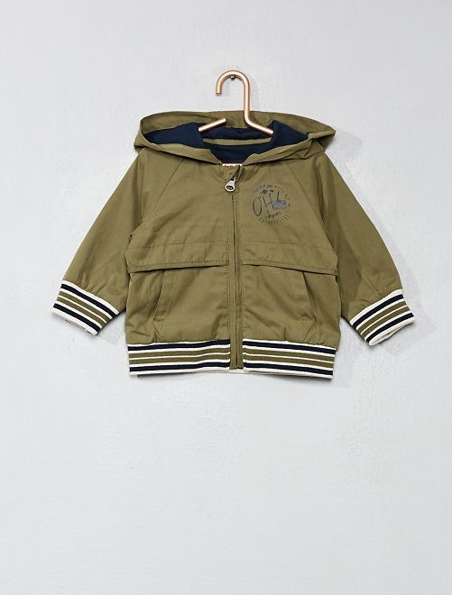 Cazadora con capucha                                                     VERDE Bebé niño