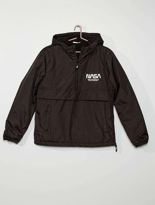 Cazadora con forro polar 'NASA'                             negro