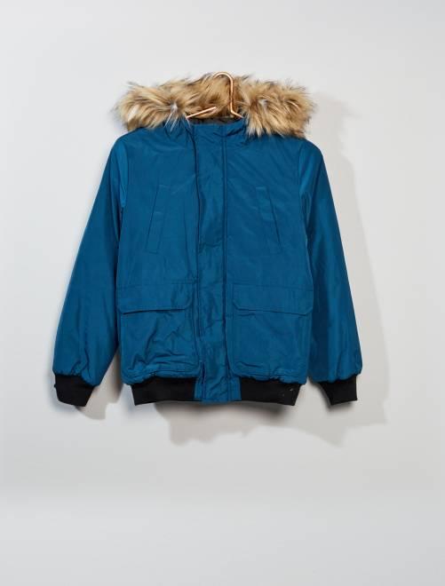 Cazadora estilo 'aviador' con capucha                             AZUL Joven niño