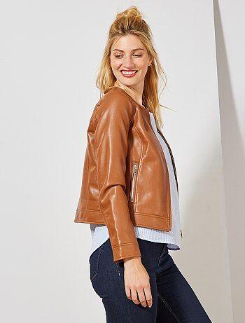 eb1741115 Rebajas chaqueta de piel sintética para Mujer   Kiabi