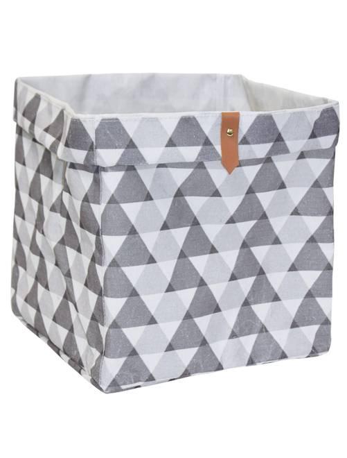 Cesta de almacenaje cubo                                                                                         blanco/gris Hogar