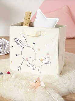 nio 0 36 meses cesta de almacenaje de tela con estampado de conejos - Decoracin Habitacin Bebe