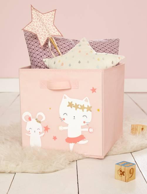 Cesta de almacenaje de tela 'hada ratoncita'                             rosa pálido Bebé niña