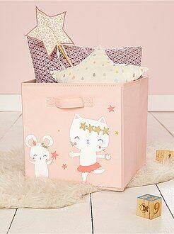 Niña 0-36 meses - Cesta de almacenaje de tela 'hada ratoncita' - Kiabi