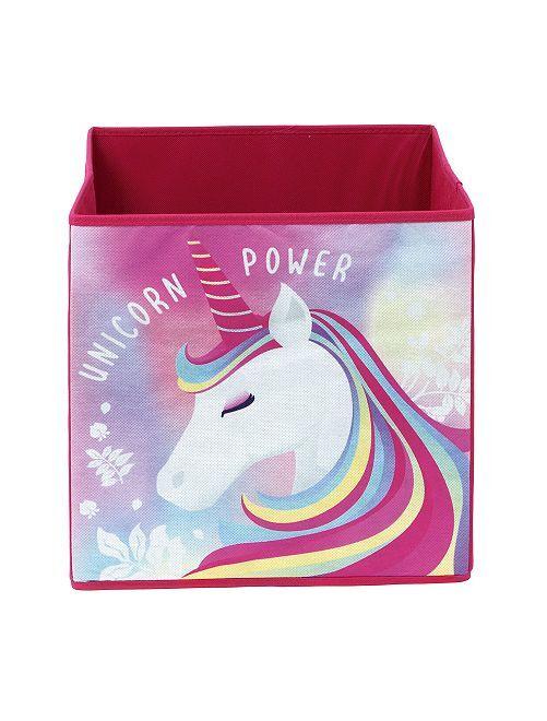 Cesta de almacenaje 'unicornio'                             rosa
