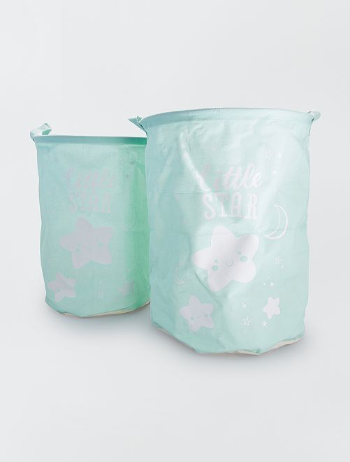 Cesta doble para la ropa 'Little Star'                                         VERDE