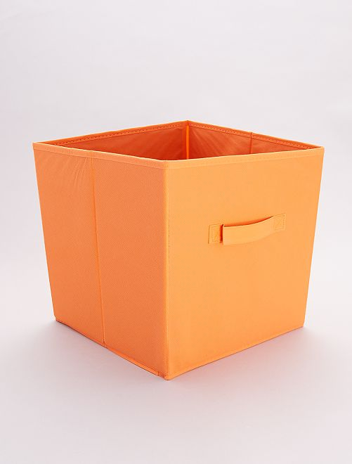 Cesta plegable recubierta                                                                                                                                                     naranja Hogar