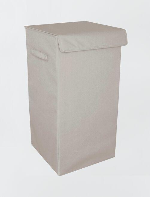 Cesta plegable recubierta para la ropa                     gris claro