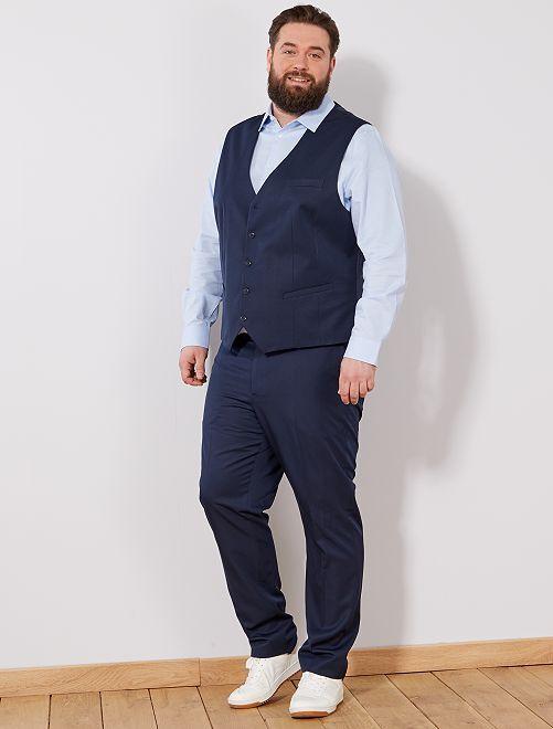 Chaleco de traje                                         azul Tallas grandes hombre