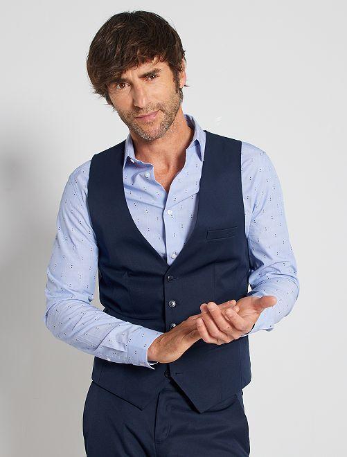 Chaleco de traje slim                                         azul