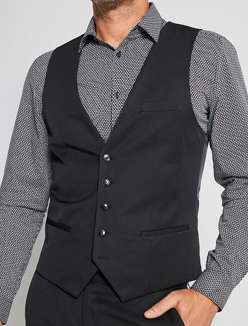 Chaleco de traje slim                                         negro