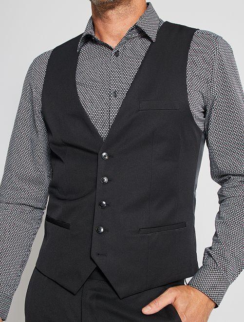 Chaleco de traje slim                             negro Hombre