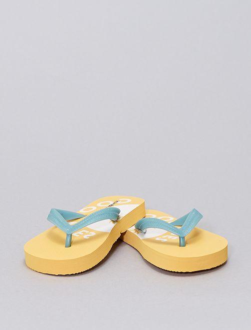 Chanclas bicolor                             amarillo