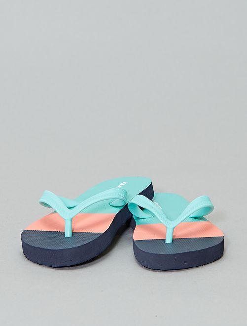 Chanclas estampadas                                                     azul navy Zapatos