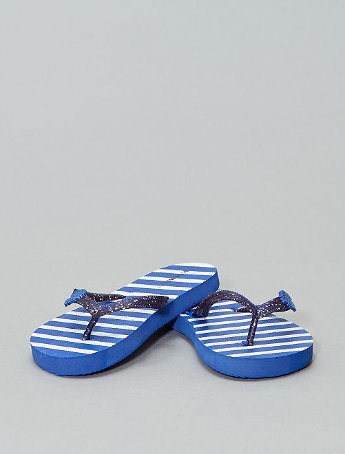 Chanclas estampadas                                                     azul navy
